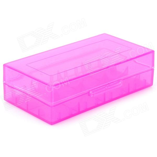 Protective PP Storage Case Box for 18650 / 17670 / 16340 Battery - Translucent Purple spark storage bag portable carrying case storage box for spark drone accessories can put remote control battery and other parts
