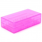 Protective PP Storage Case Box for 18650 / 17670 / 16340 Battery - Translucent Purple