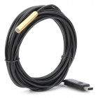 LBW-T7M 100X Mini Waterproof USB Magnetic Endoscope w/ 4-LED - Black + Golden