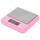 "1.4"" LCD Portable Digital Pocket Jewelry Scale - Pink + Silver (500g /0.1g / 2 x AAA)"