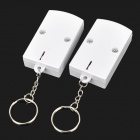 Mini Infrared Ray Dual Remote Controller Alarm - White (4 x AA)