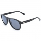 OREKA s997 Retro Style UV400 Protection Grey Resin Lens Polarized Sunglasses - Black