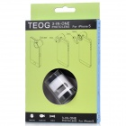 TEOG-FOR 3-in-1 Macro + Wide Angle + Fish Eye Lens for Iphone 5 - White + Black