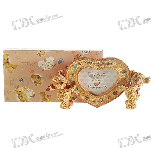 "Valentine's Day Gift - Lovely Bears ""You-n-Me"" Picture Frame"