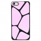 Basketball Leather Plastic Back Case for iPhone 5 - Pink