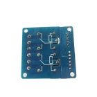 FC-16-D 2-Channel 9V Gatillo de Alto Nivel Relay Module - Azul
