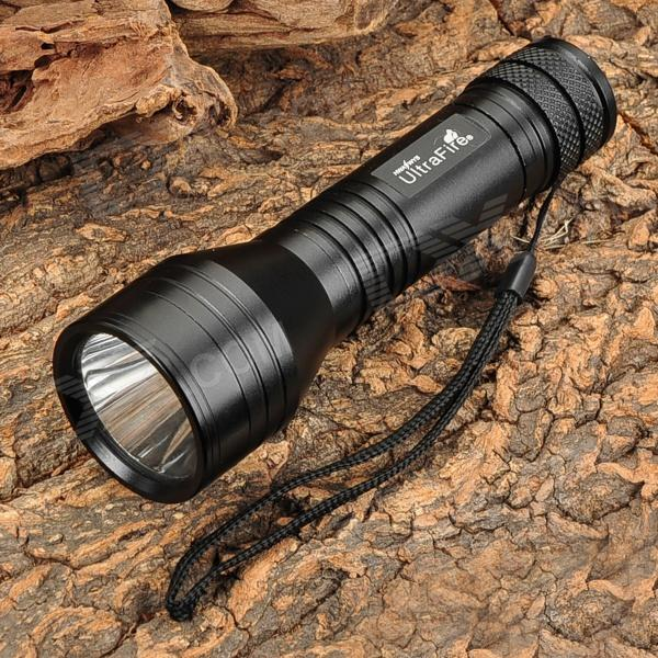 UltraFire C9 180lm 3-Mode White Flashlight - Black (1 x 18650 / 2 x CR123A)