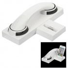 Bluetooth v2.0 Headset + 30-Pin Charging Dock Speaker for iPhone 4 / 4S - White + Black