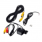 YingShiTong CAM-102M Waterproof 720 x 486 CMOS Car Rearview Camera w/ 8-LED IR Night Vision - Black