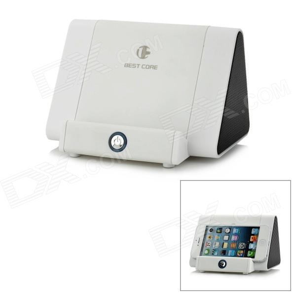 Cell Phone Induction Speaker Dock für iPhone / Samsung / Nokia / HTC + Mehr - White + Black