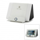 Cell Phone Induction Speaker Dock for iPhone / Samsung / Nokia / HTC + More - White + Black