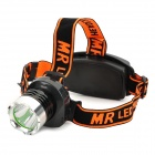 A9 200lm 3-Mode White Headlamp w/ Cree XR-E Q5 - Black + Orange (1~2 x 18650 / 2 x CR123A)