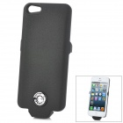 External 2500mAh Battery Case + 8-Pin Charging / Data Cable Set for iPhone 5 - Black