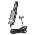 SAMDI Car Charger w/ 30-Pin Male Cable for iPhone 4 / 4S / iPad 2 / The New iPad - Black (10.8V~24V)