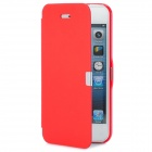 Protective PU + ABS Flip-Open Case for Iphone 5 - Red