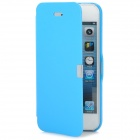 Protective PU + ABS Flip-Open Case for Iphone 5 - Blue