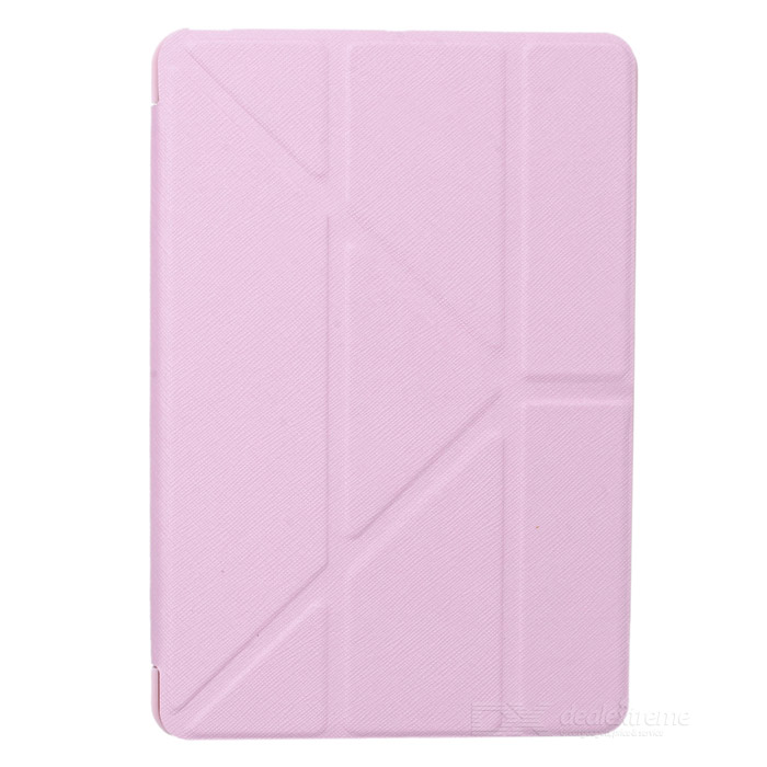 Ultra-smal PU + PP står Case för Ipad MINI - rosa