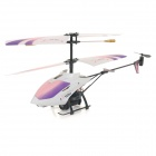 YiZHAN 58021 Rechargeable Wireless 3.5-CH Control Mini Light Projection Helicopter - Purple + White