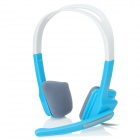 LUPUS LPS-1005 Headphones w/ Microphone - Blue + White
