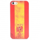 Flag of Spain Pattern Protective Plastic Hard Back Case for iPhone 5 - Red + Yellow