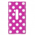 Protective Silicone Back Case for Nokia Lumia 920 - Purple + White