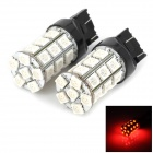 744350-27R T20 5W 300lm 27 SMD 5050 LED Red Light Car Bulbs - Black + White