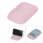 Car Slip-Resistant Silicone Glitter Powder Base for Cellphone GPS - Translucent Pink