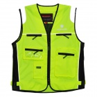 SCOYCO JK30 Reflective High Visibility Protective Clothing Vest - Green + Black (XL)
