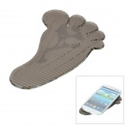 Footprint Pattern Car Silicone Super Non-Slip Pad - Deep Grey