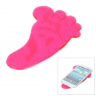 Footprint Pattern Car Silicone Super Non-Slip Pad - Deep Pink