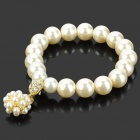 Women's Fashion Resin Pearl Bracelet - White