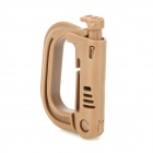 Multifunctional Hollow-out D-Ring / D-Shape ABS Buckles Clasps - Coyote Tan (4 PCS)