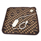 12254 20W PU Fabric Pet Electric Warming / Heated Pad for Cat / Dog - Brown (2-Flat-Pin Plug / 220V)