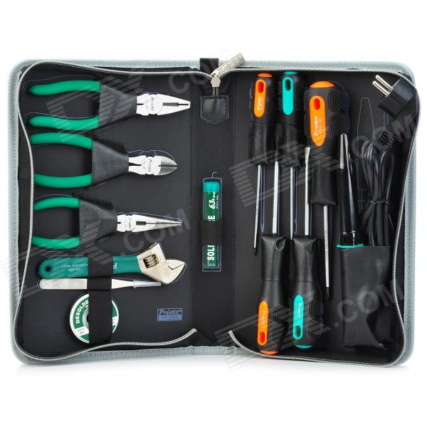 Pro'sKit PK-2086B Basic Electrical Maintenance Tool Kit - Verde + Gris