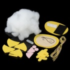 DIY Doll Kit Cell Phone Strap Hanging Decoration Accessories Set - Yellow + Black