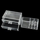 Drawer Type Desktop Plastic Combination Jewelry / Cosmetic Organizer / Storage Box - Transparent
