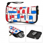ENKAY ENK-2003R1 Multi-Function Waterproof Mouse Pad Storage Bag - Red + Blue +White