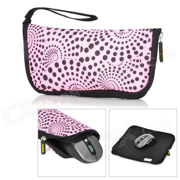 ENKAY ENK-2002R1 Multi-Function Waterproof Mouse Pad Storage Bag - Pink + Black