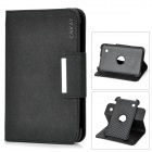 ENKAY ENK-7021 Protective PU Leather Case w/ Smart Cover for 7'' Samsung Tablet PC - Black