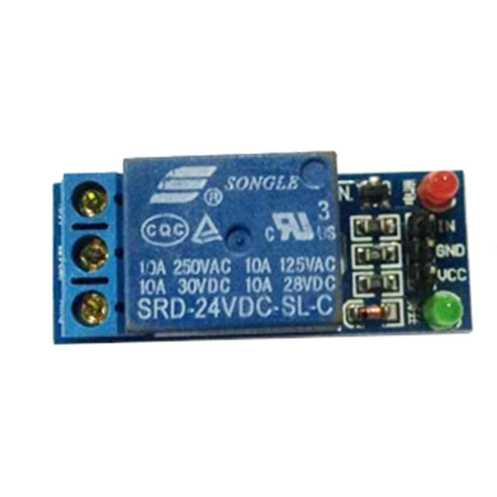 FC-16-B 1-Channel 24V Relay Module - modrá