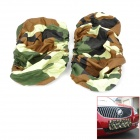 Car License Plate Camouflage Cloth Thicken Dust Cover - Army Green (2 PCS)