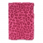 Ultra-Thin Leopard Style Protective PU Leather Case for Ipad MINI - Deep Pink