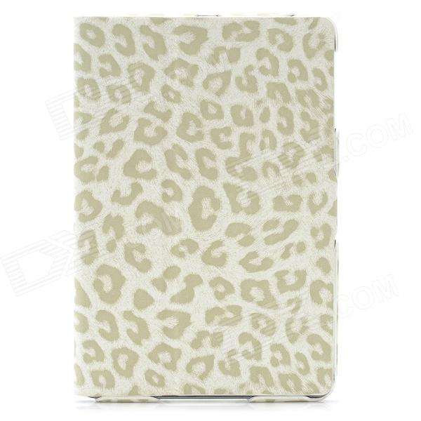 Ultra-Thin Leopard Style Protective PU Leather Case for Ipad MINI - White