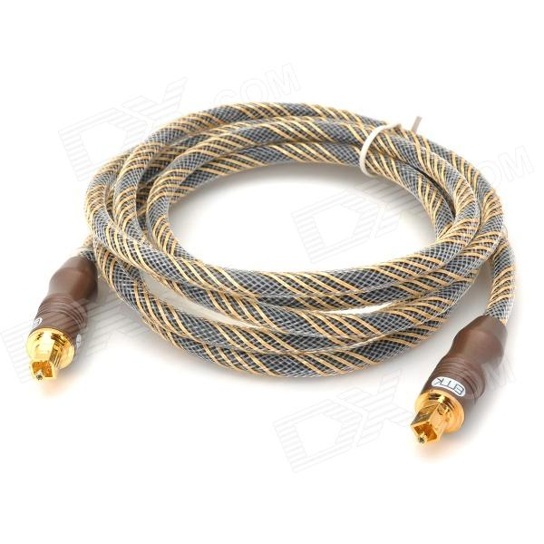 M1.8-6.0 Digital Optical Audio Cable Lead - Marrón + Oro + Negro