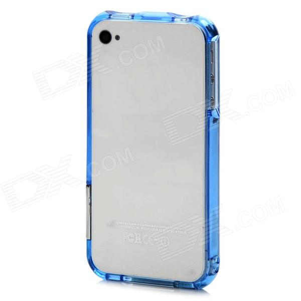 Protective Plastic Bumper Frame for Iphone 4 / Iphone 4S - Translucent Blue стоимость