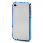Protective Plastic Bumper Frame for Iphone 4 / Iphone 4S - Translucent Blue