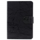 Tree Bark Grain Style Protective PU Leather Case for iPad Mini - Black