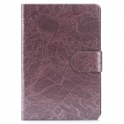 Tree Bark Grain Style Protective PU Leather Case for iPad Mini - Purple