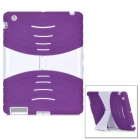 Protective Silicone Holder Case for Ipad 2 / 3 / 4 - Purple + White