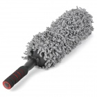 Stainless Steel Handle Retractable Fine Fiber Car / Home Washing Brush - Grey + Black